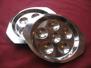 Stainless steel snail plates